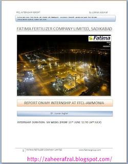 Fatima Fertilizer Company Limited Internship Report