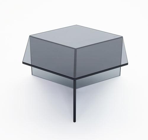 mesa de cristal o vidro de colores