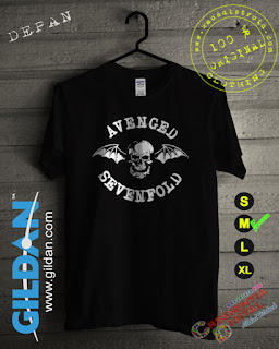 Baju Kaos Distro Avanged Sevenfold Warna Hitam