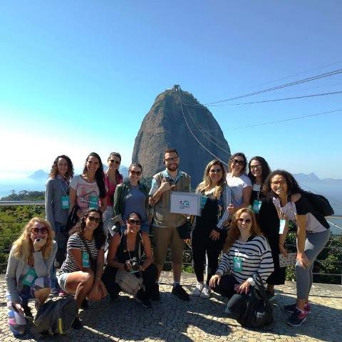 Blogueiras que participaram do Tour Ecológico do Bondinho Pão de Açúcar