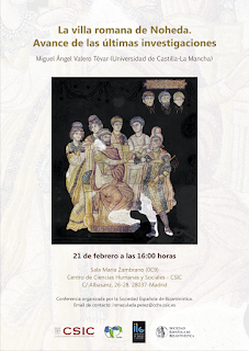 cartel de la comunicación con una imagen del mosaico y los datos de celebración del evento