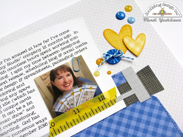 Doodlebug Design: Typewriter Scrapbook Layout by Mendi Yoshikawa (using new Petite Prints & Silhouette Cutting File)
