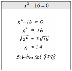 OpenAlgebra.com: Solve by Extracting Square Roots