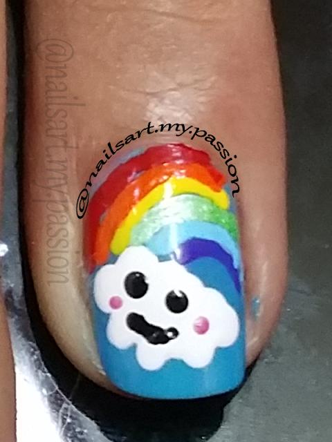Tutorial 2: Blue Summertime Rainbow Nails