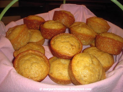 Margaret's Morsels | Banana Muffins
