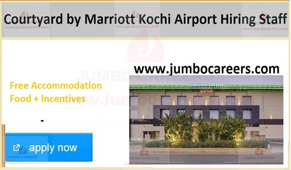 Kochi urgent hotel jobs with benefits,.