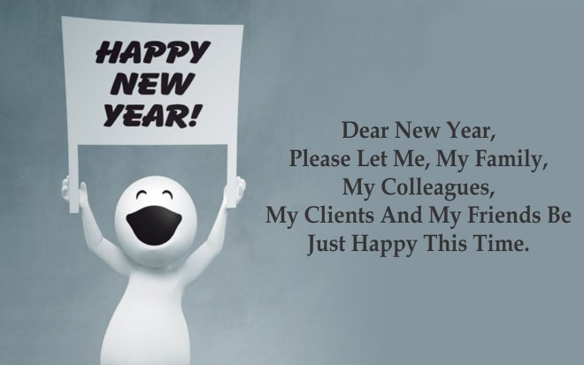 HD Happy New Year Wallpapers with Fun Quotes - Happy New Year 2019 ...