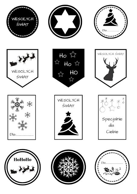 etykiety na prezenty bożonarodzeniowe diy
