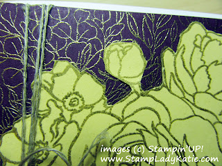 Paper crafting technique of Paper Piecing illustrated with Stampin'UP!'s large flower background stamp: Breathtaking Bouquet