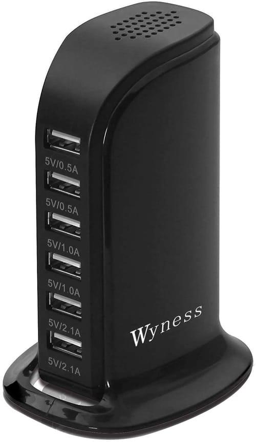 Wyness USB 6-Port Smart IC Tech Charging Station