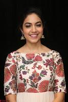 Ritu Varma smiling face Cream Anarkali dress at launch of OPPO New Selfie Camera F3 ~  Exclusive 022.JPG