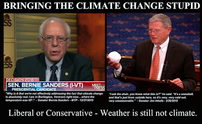 Bernie Sanders and Jim Inhofe on Climate Change
