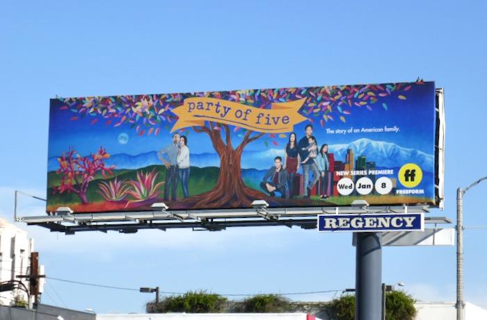 Party of Five Freeform remake billboard