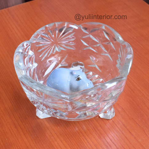 Decorative Glassware, mini crystal glass bowl  in Port Harcourt, Nigeria