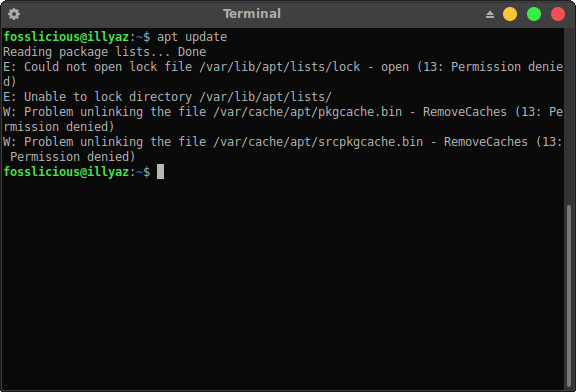 How to Fix Permission Denied When Updating on Ubuntu Terminal?