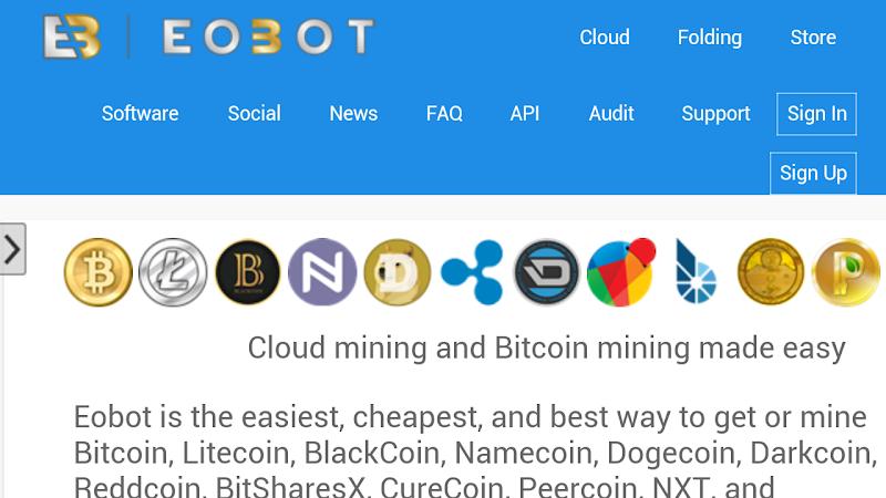 Hướng dẫn cách đào Bitcoin với eobot.com