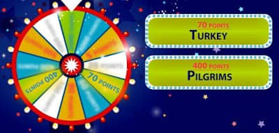 The wheel spins again! Look at the clues to figure out which event we are referring to.