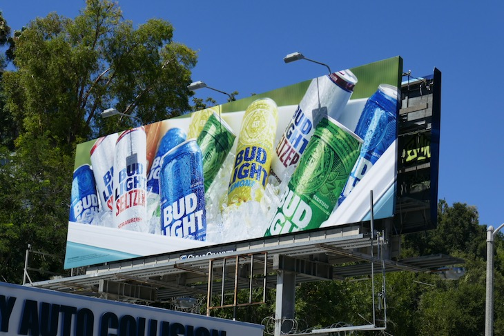 Bud Light ice chest cooler billboard