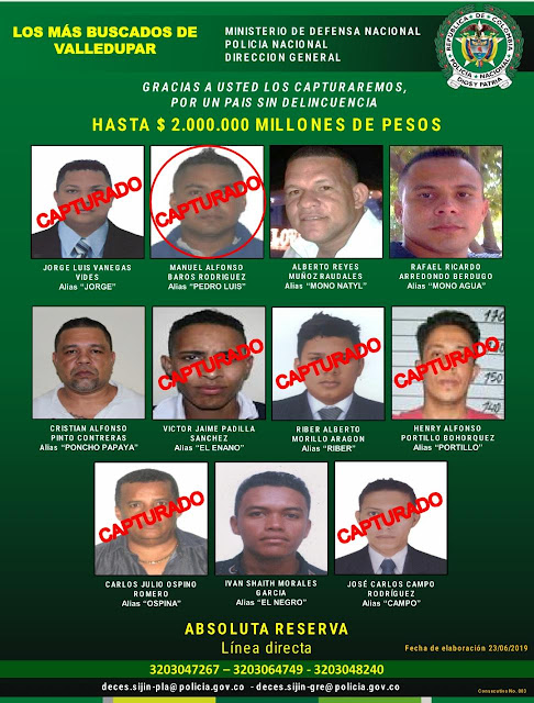 Uno de los más buscados en el Cesar, cayó en La Guajira