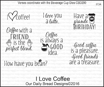 Our Daily Bread Designs Stamp Set: I Love Coffee