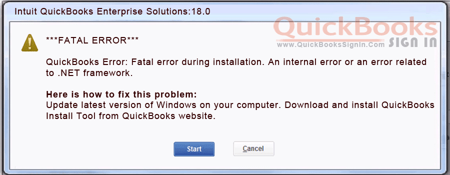 How to Fix QuickBooks Fatal Error