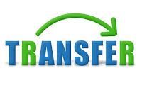 Transfer sözcüğündeki R harflerinin transfer edilmesinin ok işareti ile gösterimi