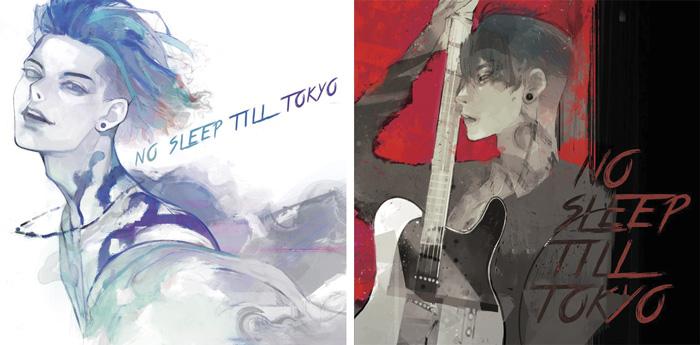 Miyavi - No sleep till Tokyo album - portadas de Sui Ishida (Tokyo Ghoul)
