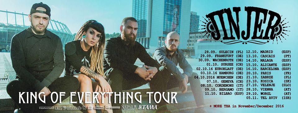 Jinjer tour 2016