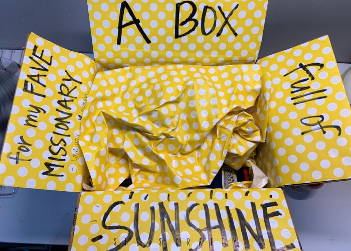 Box of sunshine care package for missionary