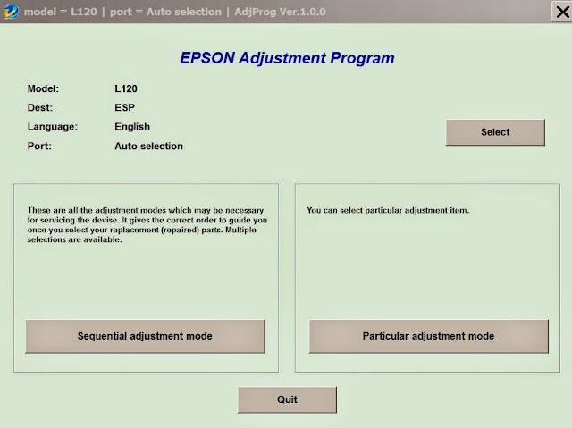 cara reset printer epson L120, L220, L310, L311, L361, L363, L561, L563, L810, L811