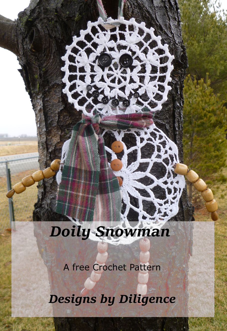 Designs by Diligence: Doily Snowman