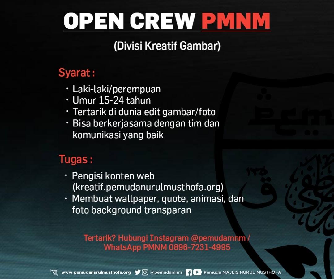 (CLOSED) Open Crew PMNM Divisi Kreatif Gambar