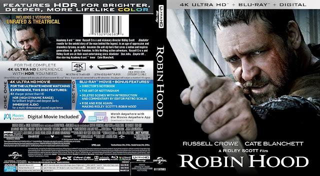 Robin Hood 4k Bluray Cover