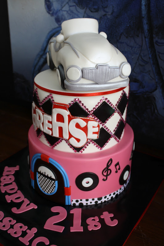 Sandy S Cakes Jessica S Grease Cake For Her 21st