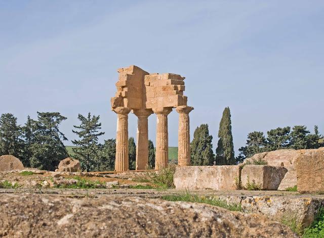 Dolina Świątyń Agrigento, Sycylia, zabytki, widok