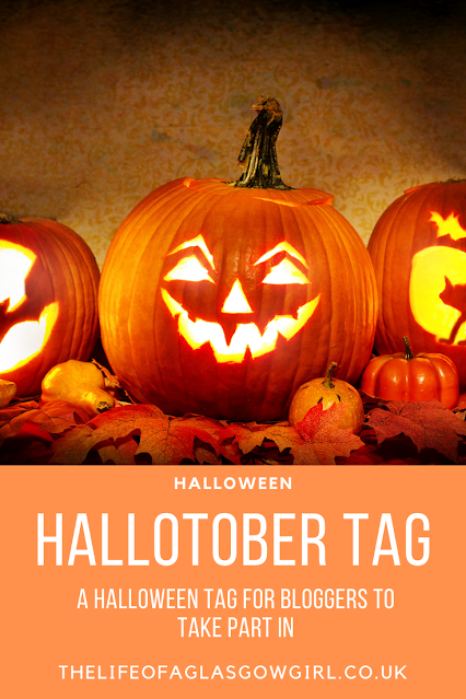 Pinterest image for Hallotober tag - A tag for bloggers to take part in for Halloween