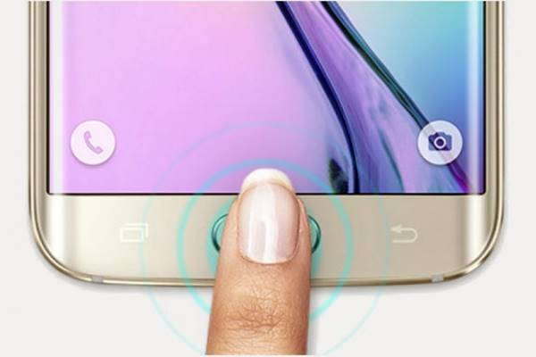 Smartphone Samsung com sensor digital