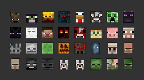 Có khá nhiều loại mob không giống nhau trong Minecraft