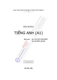 Bài Giảng Tiếng Anh A1 - Nguyễn Thị Thiết