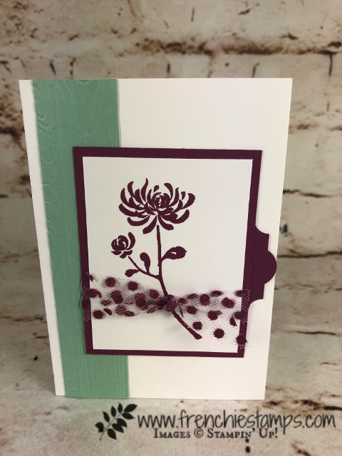 How to add colors to the Polka Dot Tulle Ribbon, Stampin'Up!, Artistically Asian, Frenchie Stamps,