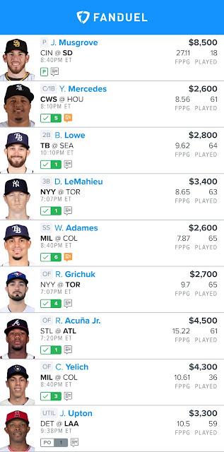 Free Fanduel MLB Lineup 06.17.21