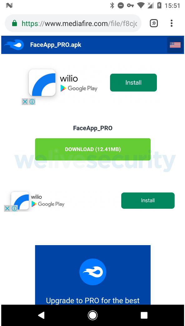 - faceapp2 - FaceApp Pro – A Fake Version of FaceApp Infect Android Users