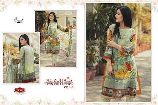 Shree Fab Alzohaib Lawn collection vol 2 pakistani Suits