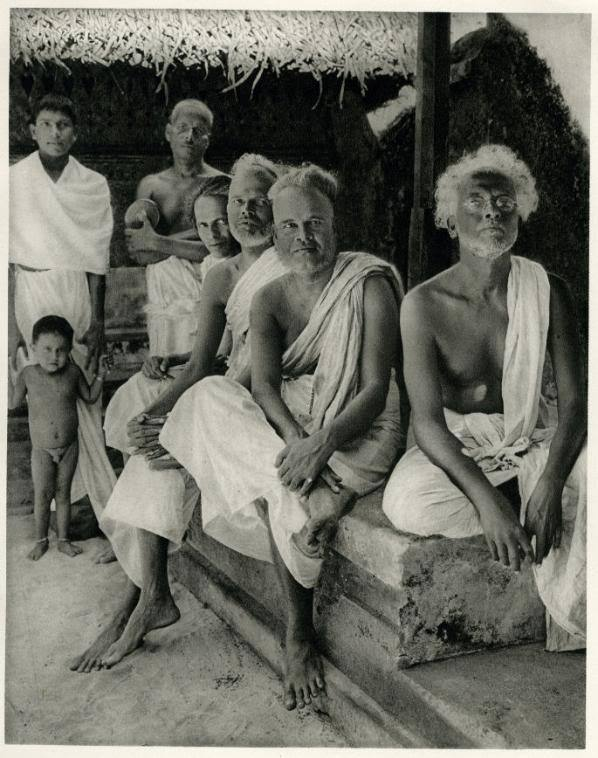Group Photo of a Nair (Nayar) Family on the Malabar Coast, India - 1928