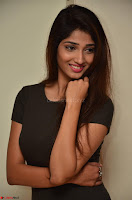 Priya Vadlamani super cute in tight brown dress at Stone Media Films production No 1 movie announcement 032.jpg