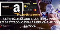 Logo PostePay ''Goal&Win'': vinci buoni Amazon da 100€ e finale Champions League