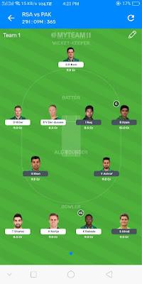 South africa vs Pakistan Dream11 2nd ODI