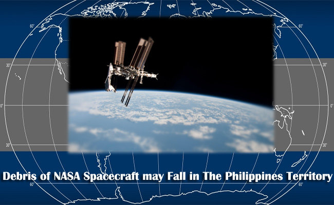 Debris of NASA Spacecraft may Fall in The Philippines Territory