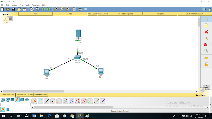 kofigurasi FTP server di cisco packet tracer