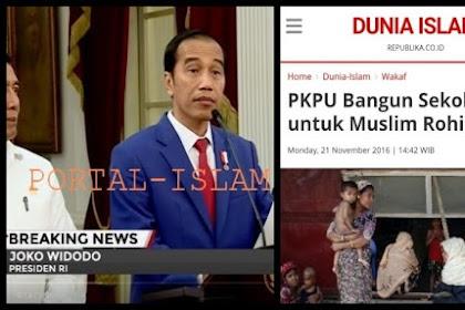 """Jokowi """"KLAIM"""" Pemerintah Telah Membangun Sekolah di Rakhine (Rohingya)"""